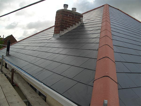 New Roof Grey Slate - Bournemouth Roofing Dorset